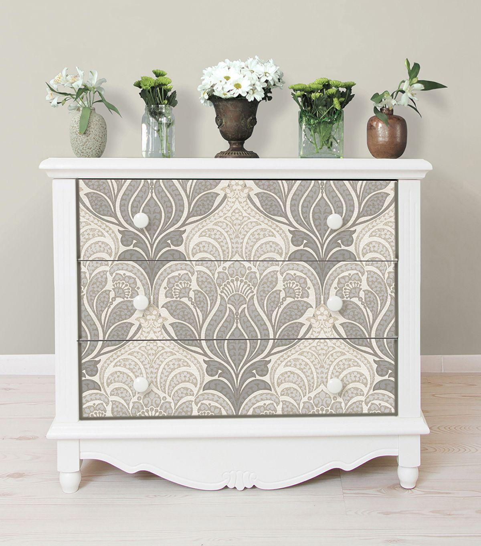 Wallpops Nuwallpaper Charisma Peel Stick Wallpaper Joann Wallpaper Furniture Furniture Makeover Stencil Furniture