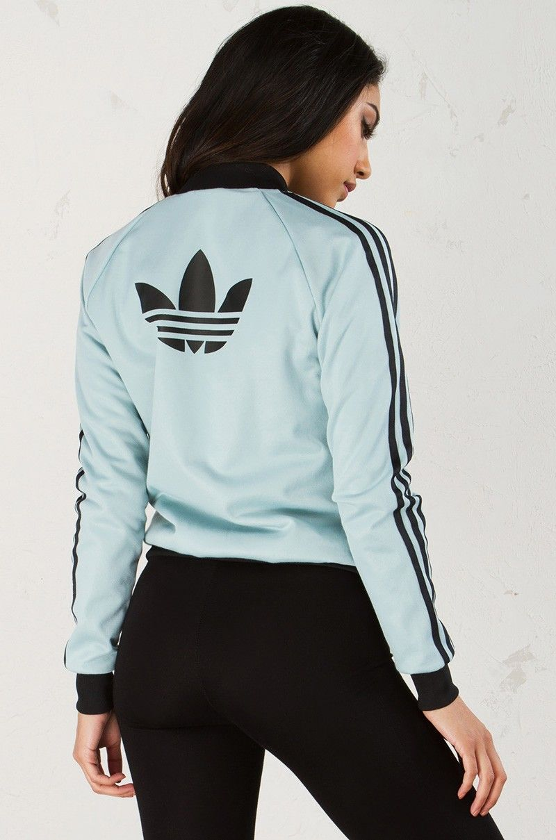 Back View Adidas Brklyn Heights Superstar Track Jacket in