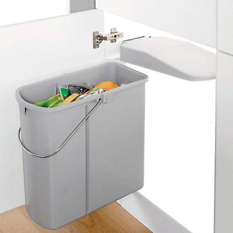 Buy Wesco Built In Slim Kitchen Bin 19L Online At Johnlewis Magnificent Kitchen Waste Bins Decorating Design