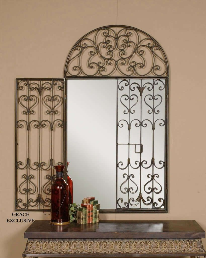 garden gate arch wall mirror home stuff garden gates. Black Bedroom Furniture Sets. Home Design Ideas