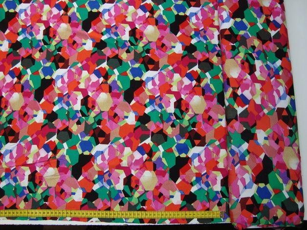 stoff grafische muster farbpixel jerses ein designerstck von annas stoffe bei dawanda - Grafische Muster