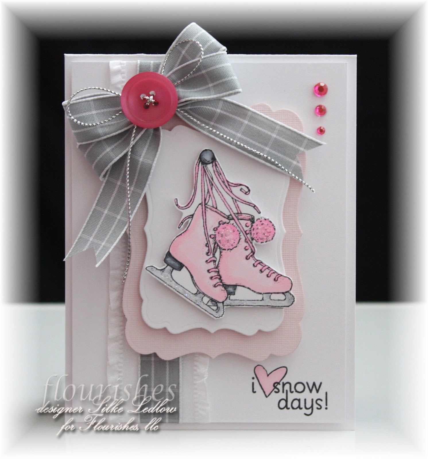pink ice skate - would be a cute stocking