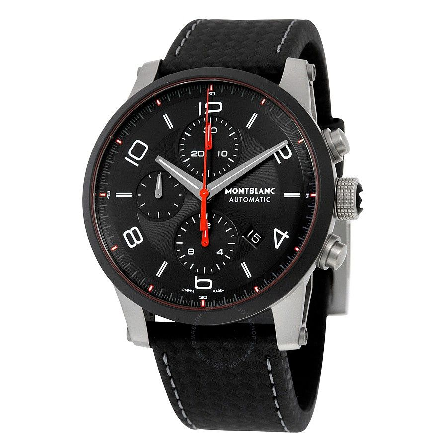 dial leather montblanc watch watches s timewalker men black urban automatic mount
