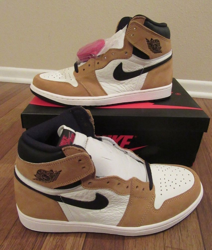 Nike Air Jordan 1 Retro High Og Size 11 Golden Harvest Black Sail