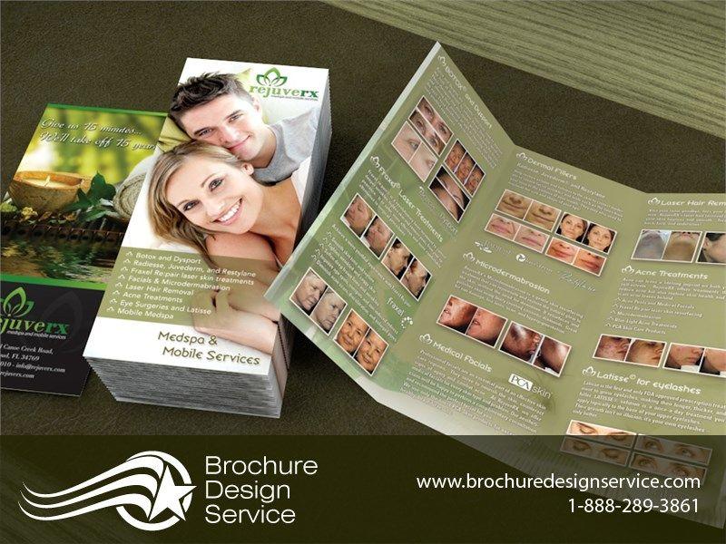 Tri Fold Brochure Design for Medispa Brochure Designers