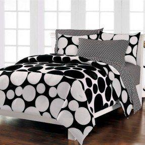 black-white-bedding-polka-dot-teen-girl-twin-full-queen-comforter-set-bed-in-a-bag-ensemble.jpg (287×287)