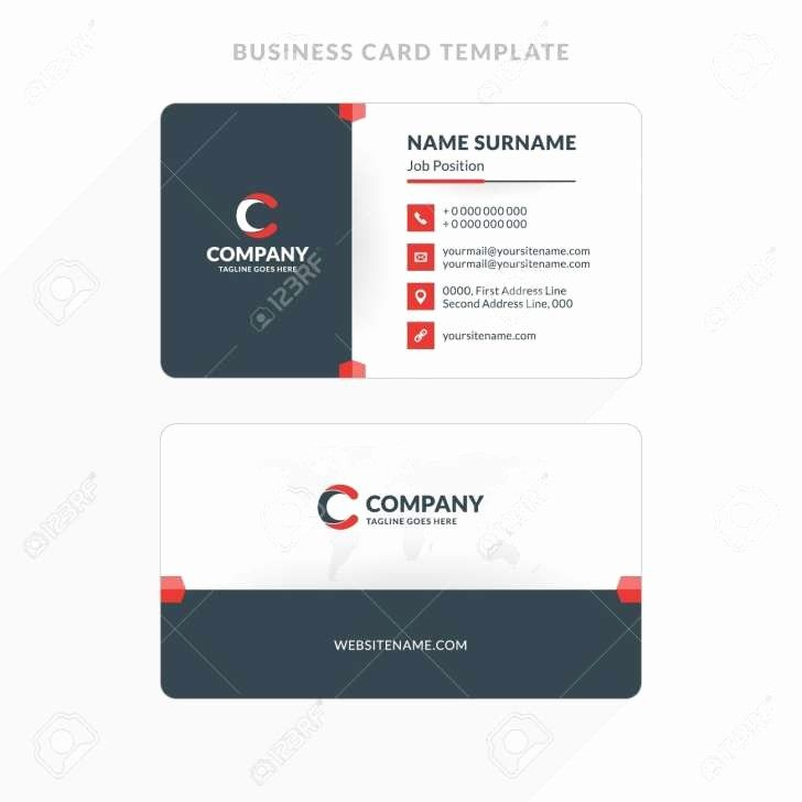 Double Sided Business Cards Template Inspirational Microsoft With Double Sided B Illustration Business Cards Double Sided Business Cards Business Card Template