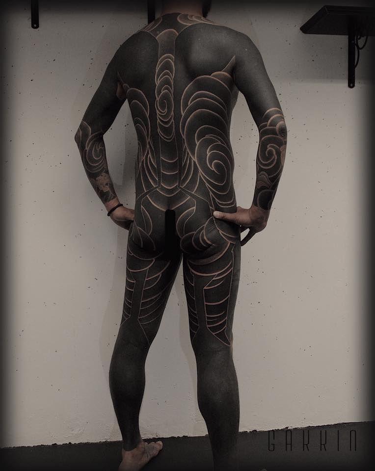 Gakkin Body Suit Tattoo Blackout Tattoo Full Body Tattoo
