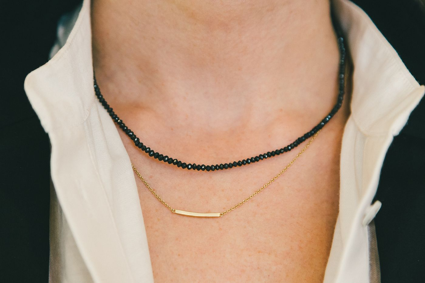 Stacked necklaces // #jewelry