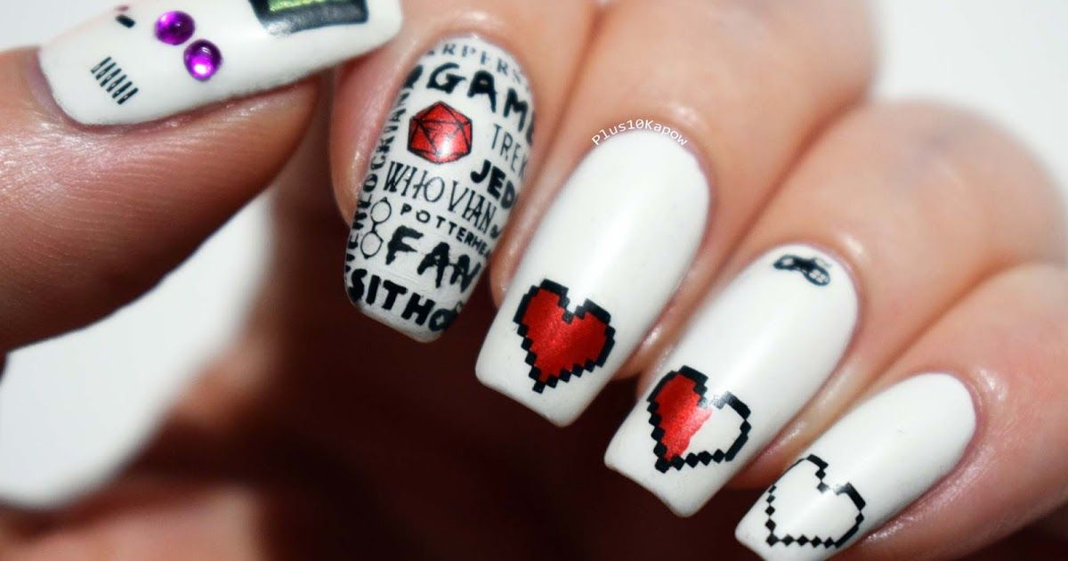 Gamer Fandom Nails 2.0 | Fandom, Manicure and Hair style