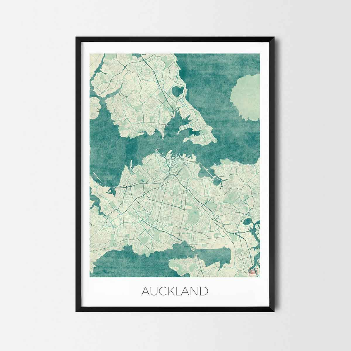 Auckland art posters - City Art Map Posters and Prints | Art posters