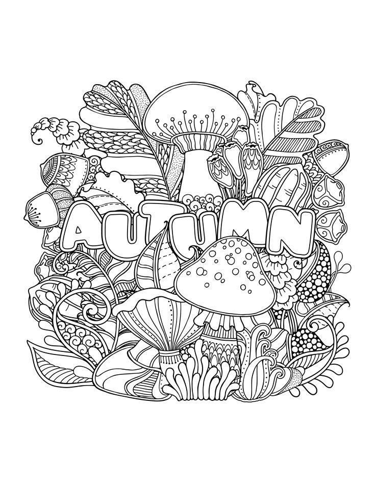 Fall Coloring Pages for Adults | MANDALAS | Pinterest | Colores ...