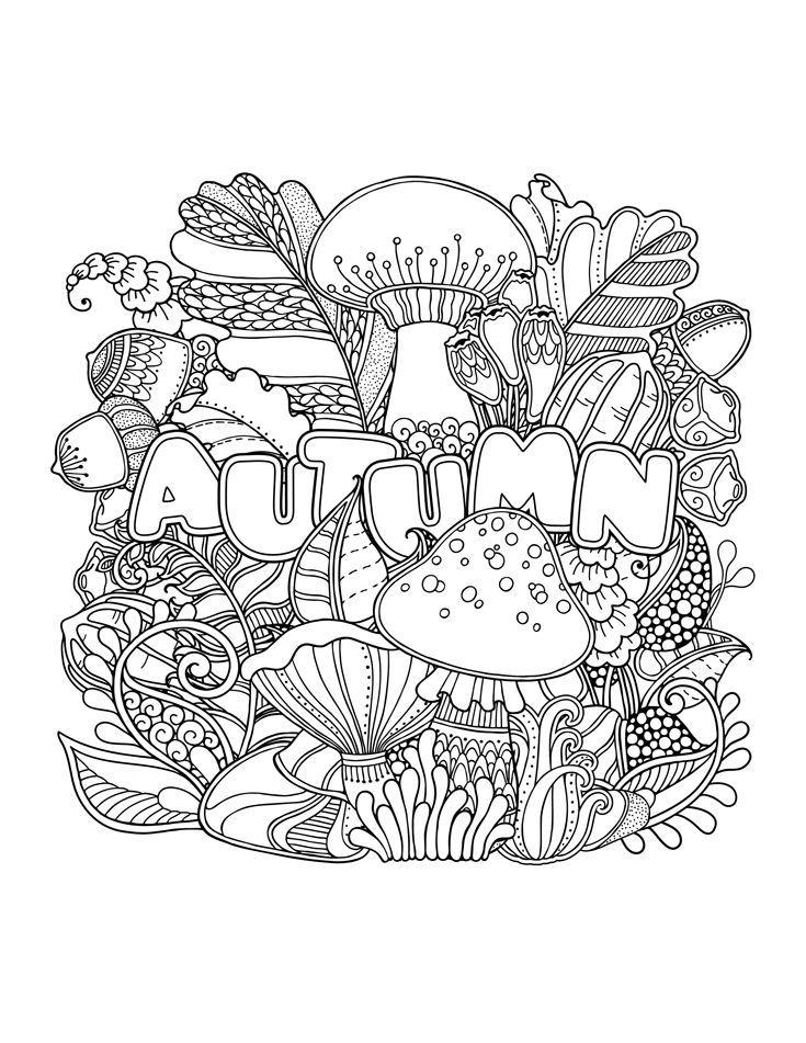 parat fall coloring pages | Fall Coloring Pages for Adults | Fall coloring pages, Fall ...