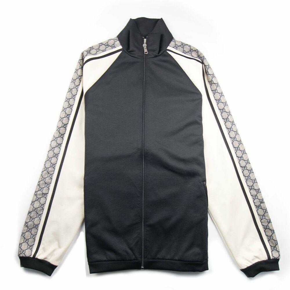 8e66ced79eb eBay  Sponsored Gucci Oversize Technical Jersey Zip Track Top Black ...