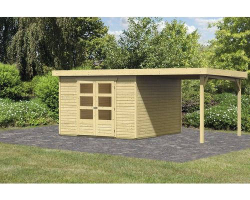 Gartenhaus Karibu Kodiak 6 im Set mit Schleppdach 522 x