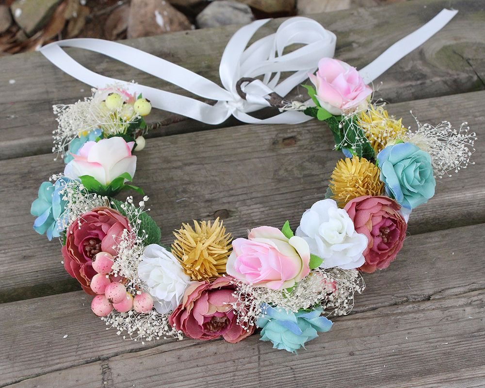 Colorful Bridal Headpiece Price 1473 Free Shipping