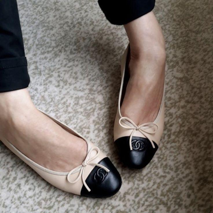 Bildergebnis für chanel ballet flats | Shoes | Pinterest | Chanel  ballerina, Chanel ballet flats and Ballerina