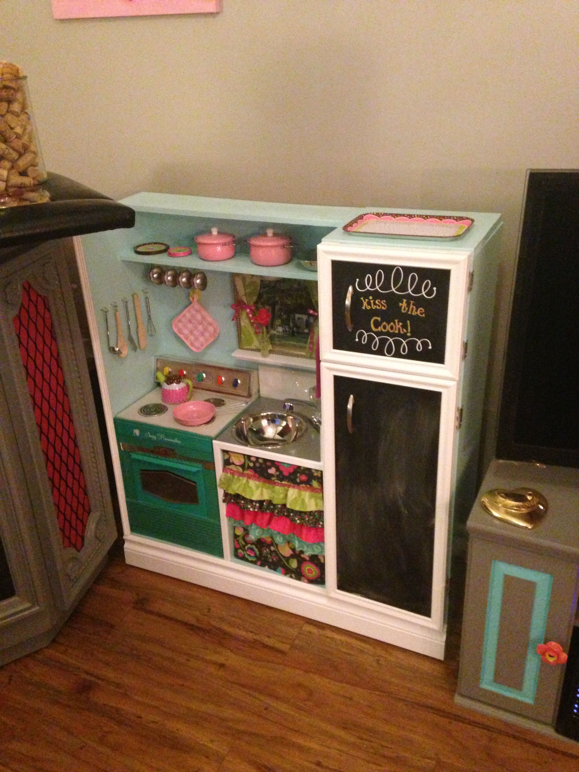 DIY homemade wooden kids play kitchen Diy kids kitchen