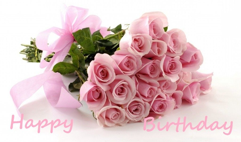 Pink Flowers Rose Bouquet Flower Red Roses Happy Birthday
