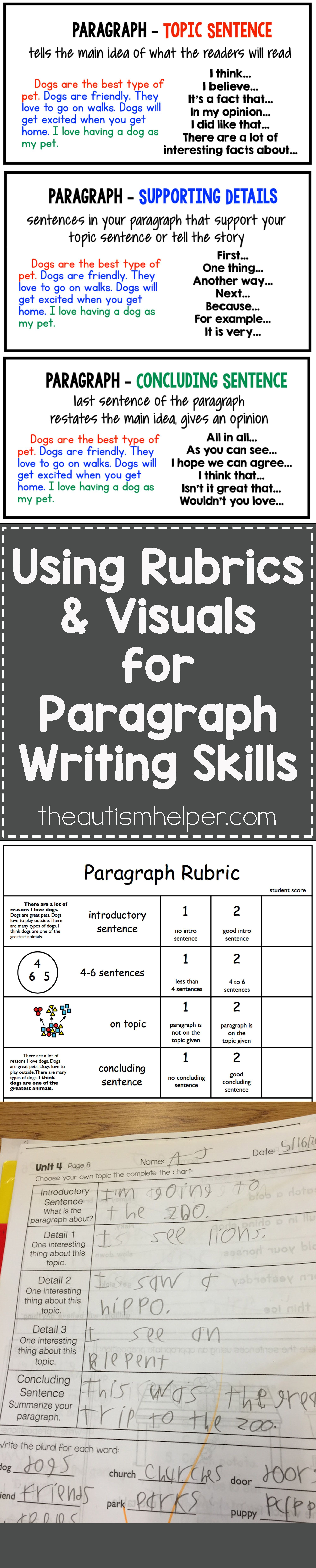 Using A Rubrics Amp Visuals For Paragraph Writing Skills