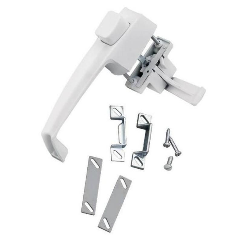 Wright Products V333wh Tie Down Storm Screen Push Button Latch White Screen Door Latch Aluminum Screen Door Latch