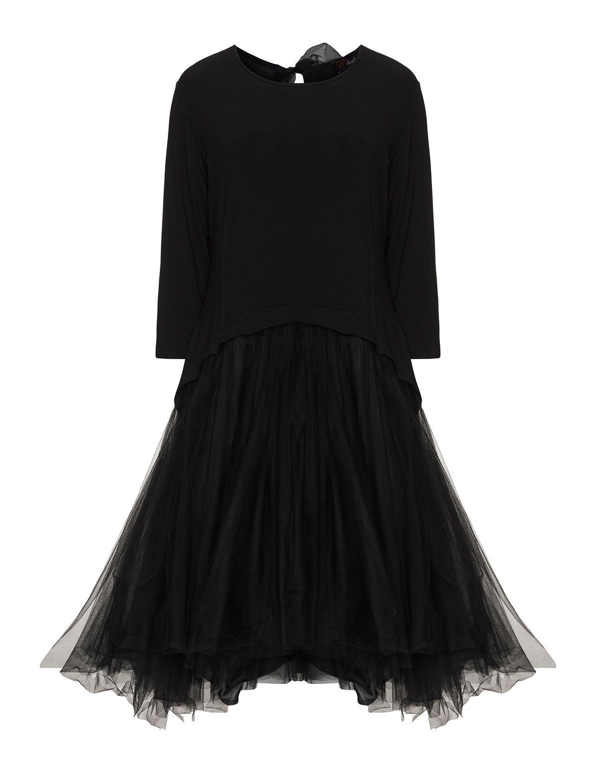 Chalona A-Linien Tüllkleid in Schwarz | Plus Size Outfit | Pinterest ...