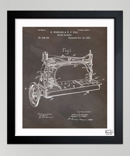 Inspired by real vintage patent drawings and illustrations, this exclusive print was handcrafted in the Oliver Gal Studio. Made from high quality materials, this trendy treasure is hand-framed and arrives ready to hang with an included certificate of authenticity.Includes framed print, hanging hardware and certificate of authenticity by artistAvailable in...
