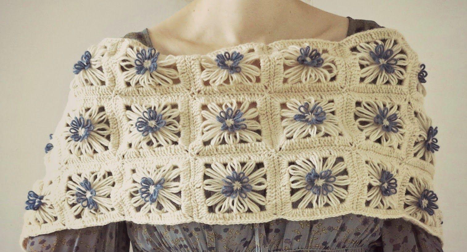 ByHaafner, crochet, flower loom, Hana Ami, Daisies in the Field ...