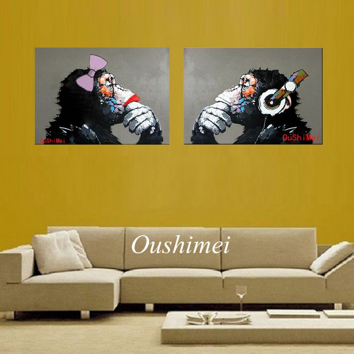 Famous Monkey Canvas Wall Art Images - Wall Art Design ...