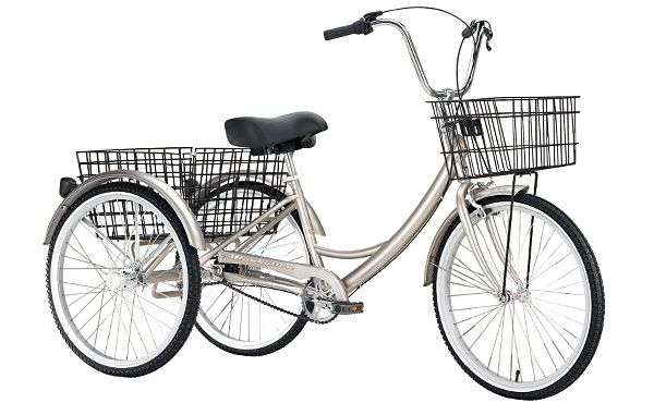 Manhattan Khs Adult 3 Wheeled Tricycle With 2 Baskets Adult