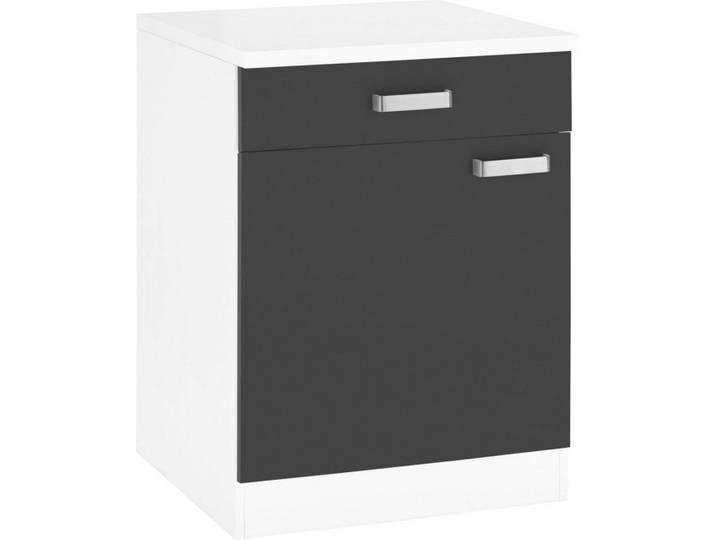 Wiho Kuchen Unterschrank Husum 60 Cm Breit Grau Anthrazit Weiss Filing Cabinet Furniture Home Decor