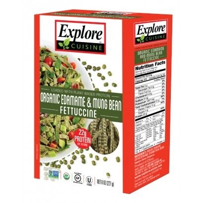 Organic Edamame And Mung Bean Fettuccine 6 Pack Vegetarian