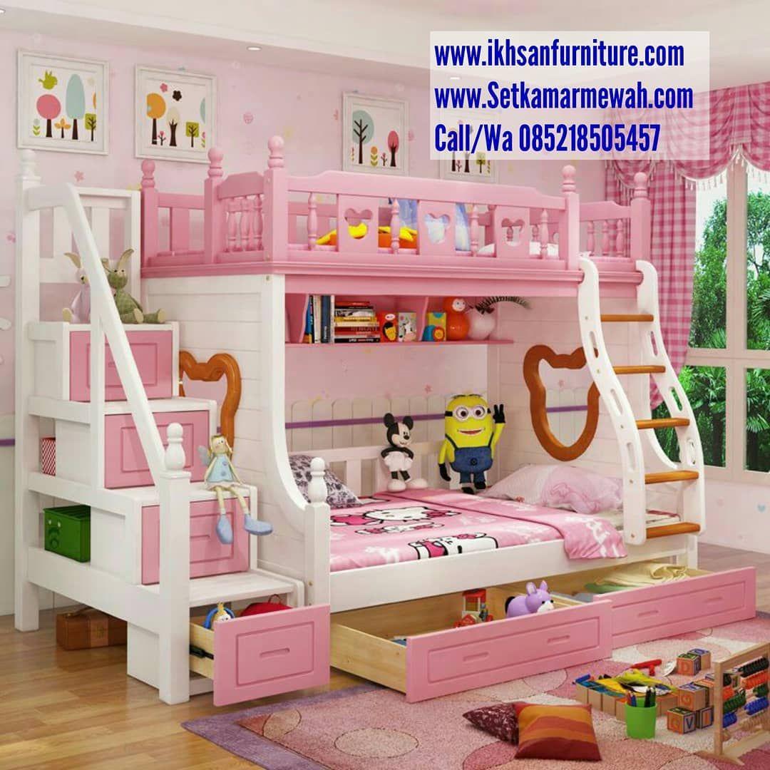 Ranjang susun anak Bunk beds with drawers, Bunk beds