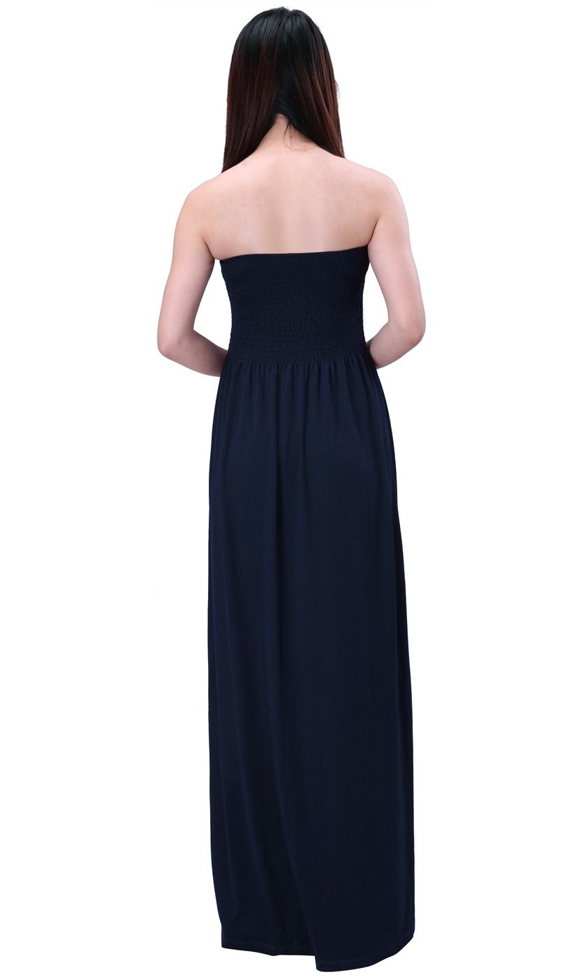 5c32b1a227 HDE Women's Strapless Maxi Dress Plus Size Tube Top Long Skirt Sundress  Cover Up (Navy, 4X)#Maxi, #Dress, #Size