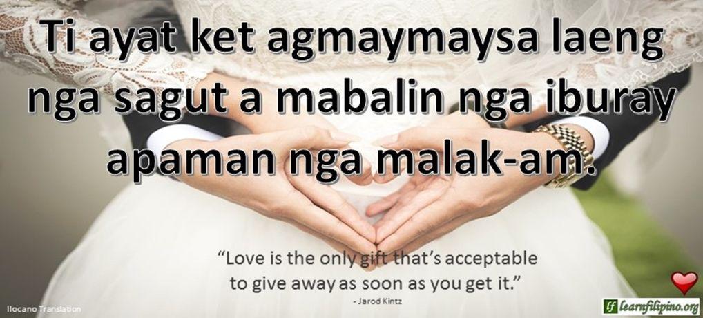 Ilocano Translation - Ti ayat agmaymaysa laeng nga sagut a mabalin