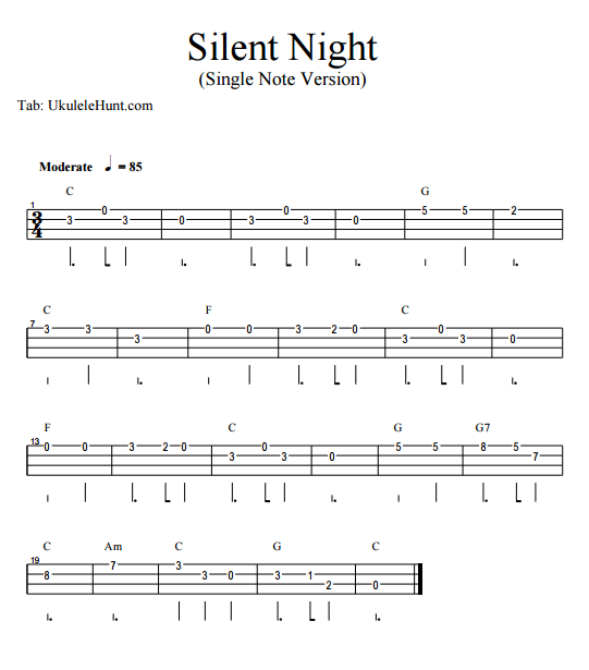 Outstanding Silent Night Chords Crest - Song Chords Images - apa ...
