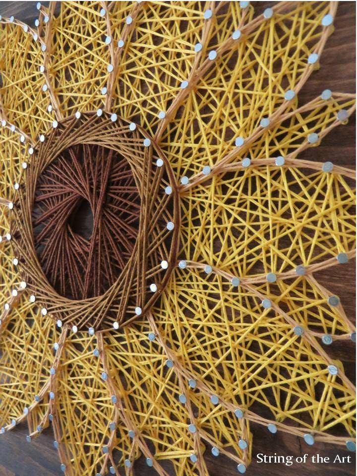 String art sunflower diy kit crafts home decor you can make this yourself click on the picture and learn how also craft for adults rh pinterest