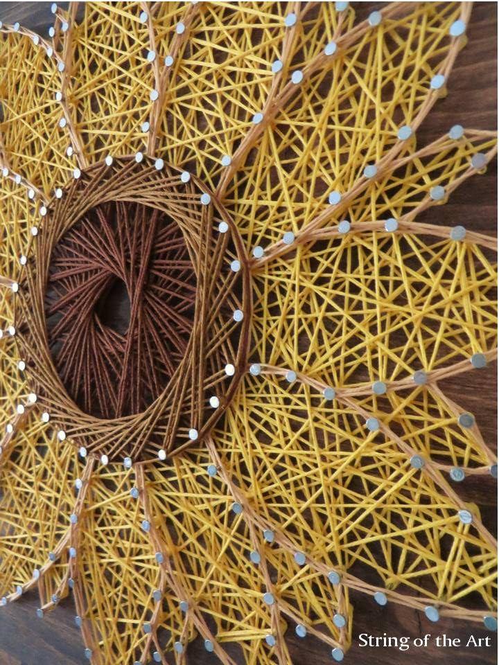 String Art Sunflower String Art Diy Kit Diy Crafts