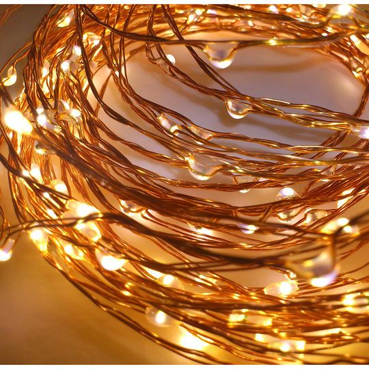 Micro Led String Lights Apothecary & Company Copper Decorative Micro Led String Lights 10