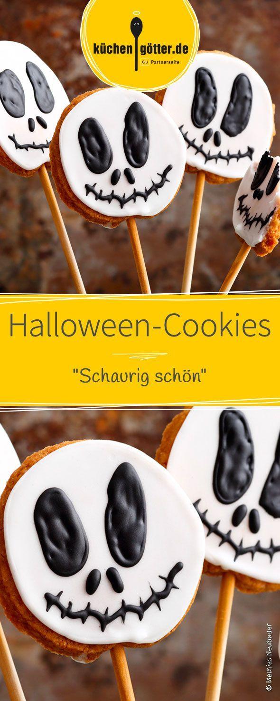 """HalloweenCookies """"Schaurig schön"""" Rezept Köstliche"""