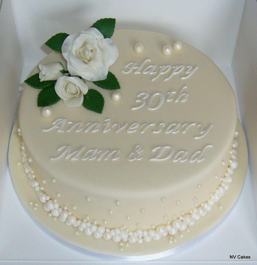 Decoration Of Chocolate Cakes Ideas 30th Wedding Anniversary Cake Wedding Anniversary Decorations Wedding Anniversary Cakes