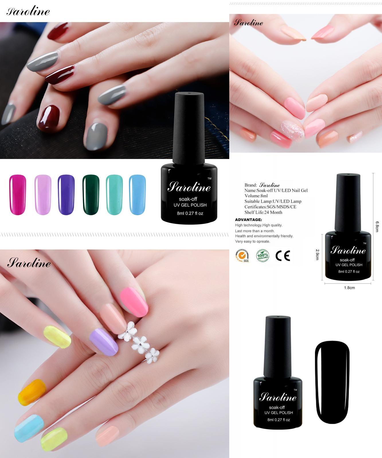 Visit to Buy] Saroline LED UV 29 Colors Gel Nail Polish Professional ...
