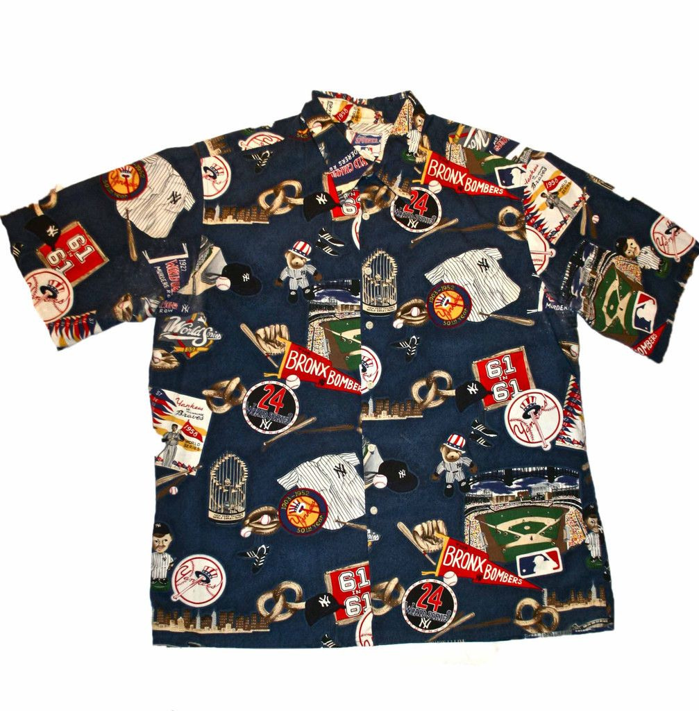 7e15b4ad Vintage Reyn Spooner New York Yankees Button Up Shirt Mens Size XL $30.00