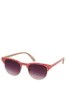 Leopard Printed Brow Sunglasses