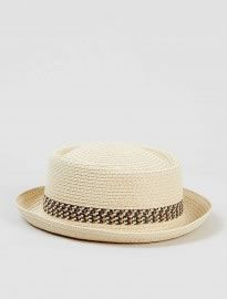 Topman Straw Pork Pie Hat  b0cc5563594