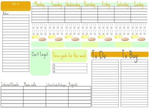 Great Planner! Free Download Things to print Pinterest - print free weekly calendar