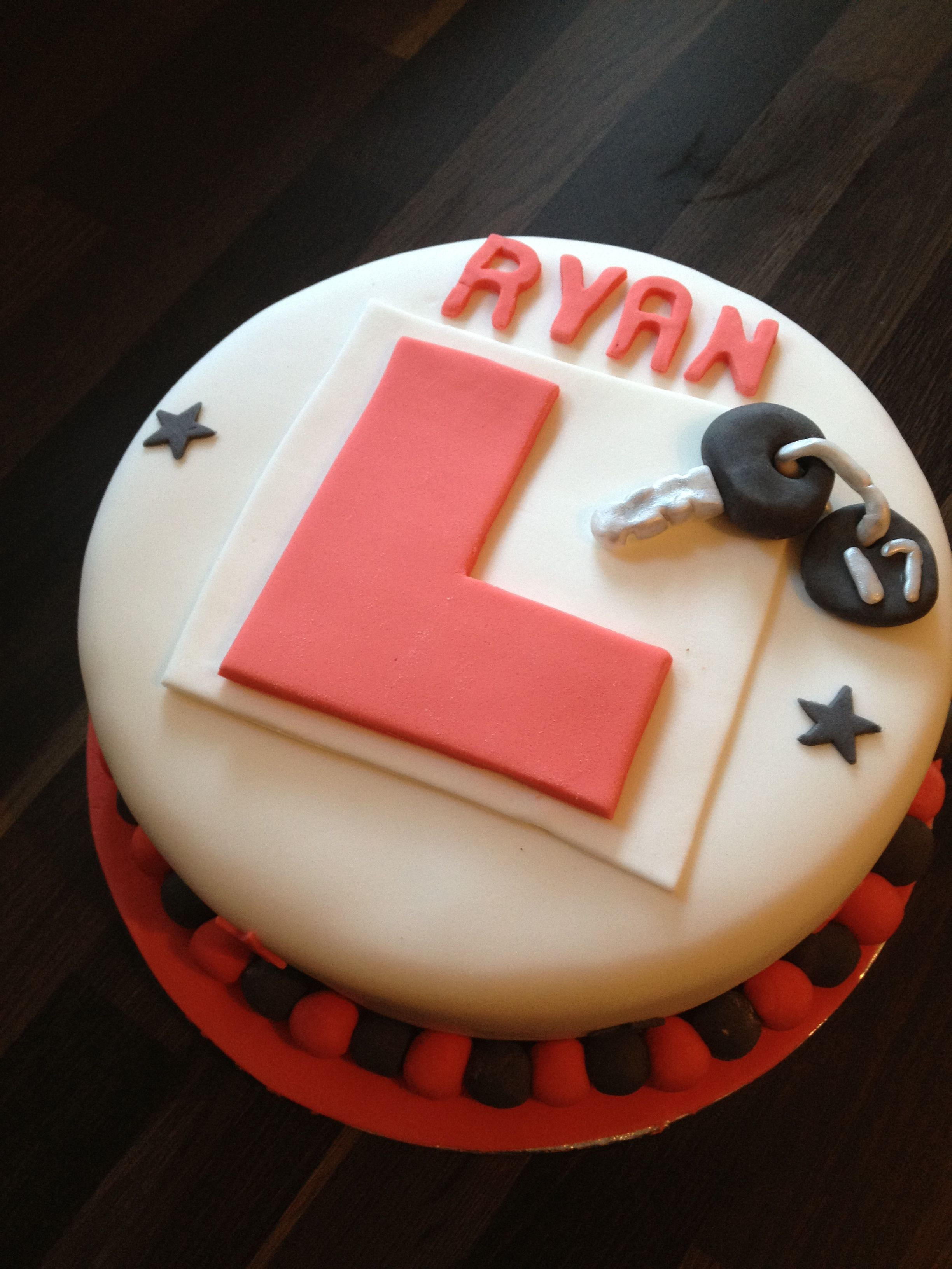 17th Birthday Learner Driver Cake By Carly