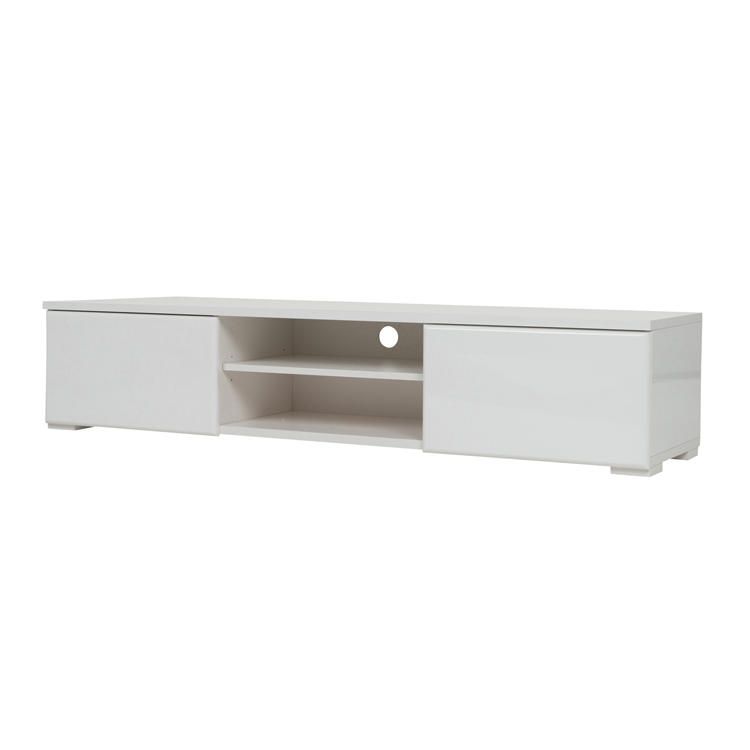 puck tv table white