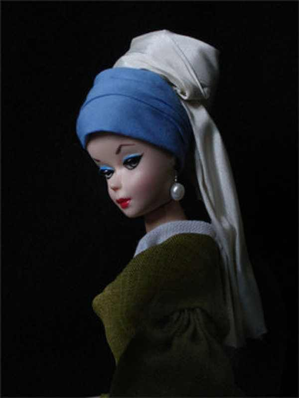 Art Barbie The Famous Muse Girl With Pearl Earring Barbie