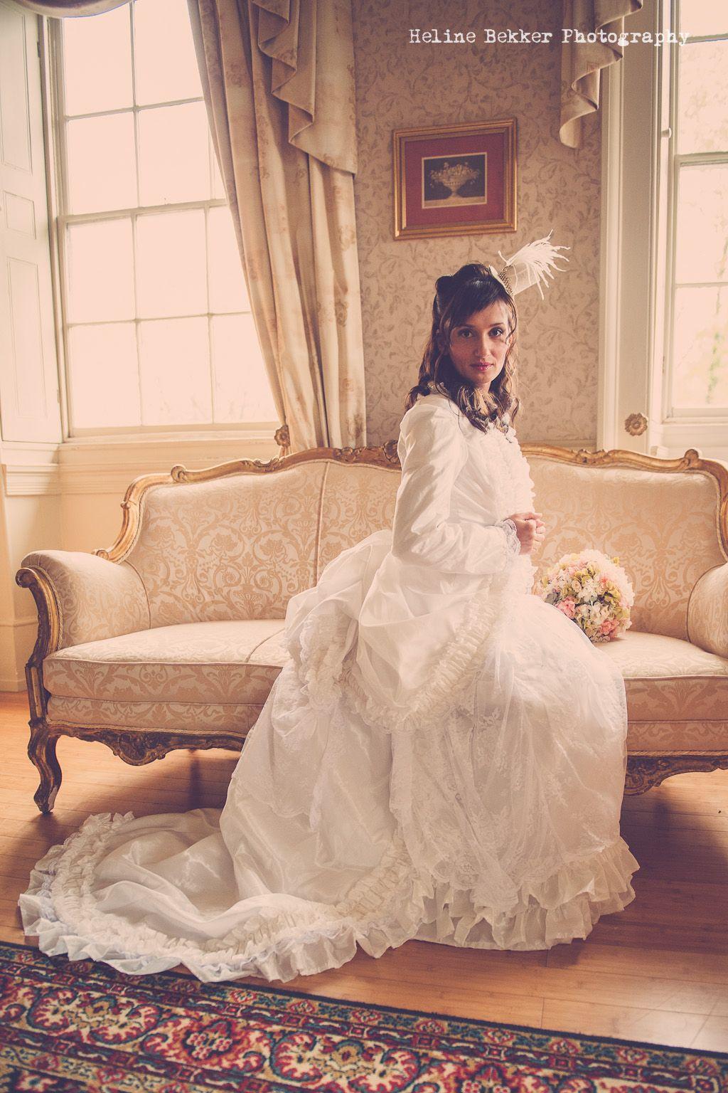 victorian wedding dress bespoke bustled wedding